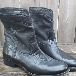 Womens Black Leather FRYE Boots Size 8.5